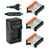 Jupio utángyártott akkumulátor (GoPro AHDBT-401 HERO4 1160mAh) és USB Triple Charger Kit