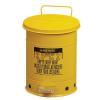 Justrite Fém szemetes kosarak gyúlékony és veszélyes anyagokra, térfogata 53 l, Kapacitás: 53 L, Anyag: fém, Szín: Sárga, Típus: pedálos, Modell: szabadon álló%