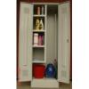 K2453U tisztítószer tároló szekrény 4 fix polc, vödörtároló, akasztók