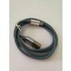 Kábel: iPhone 8 pin Lightning kék metál adatkábel 1m