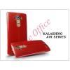 Kalaideng LG G4 H815 szilikon hátlap üveg képernyővédó fóliával - Kalaideng Air Series - red