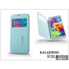 Kalaideng Samsung SM-G900 Galaxy S5 flipes tok - Kalaideng Iceland 2 Series View Cover - turquoise blue