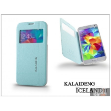 Kalaideng Samsung SM-G900 Galaxy S5 flipes tok - Kalaideng Iceland 2 Series View Cover - turquoise blue tok és táska