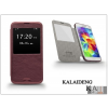Kalaideng Samsung SM-G900 Galaxy S5 flipes tok - Kalaideng Ka View Series - dark red