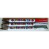 Kalocsai mintás fehér toll Budapest felirattal- piros