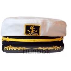 Kapitány sárga zsinóros,fix 56 méretű sapka