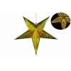 Karácsonyi dísz - csillag időzítővel 60 cm - 10 LED, arany