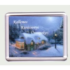 Karácsonyi hűtőmágnes VIII. (műanyag keretes) hűtőmágnes