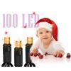 Karácsonyi izzó égősor fényfüzér, karácsonyi led égősor 100db-os (narancs)