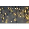 Karácsonyi jégcsap függöny, 200 db meleg fehér. 8villogtatható, 8 funkciós, memóriás vezérlővel. Life Light led ÚJ!