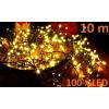 Karácsonyi LED világítás 10 m - meleg fehér, 100 dióda