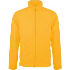 KARIBAN FALCO cipzáras polárpulóver, sárga