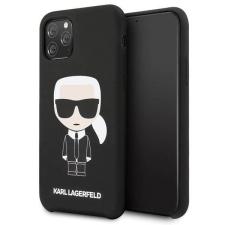 Karl Lagerfeld Etui Karl Lagerfeld KLHCN58SLFKBK iPhone 11 Pro kemény tok fekete Szilikon Ikonikus telefontok tok és táska
