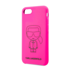 Karl Lagerfeld tok rózsaszín (KLHCI8SILFLPI) Apple iPhone 7 / 8 készülékhez tok és táska