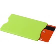 Kártyatartó RFID védelemmel, műanyag, világoszöld pénztárca