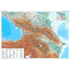 Kaukázus domborzati falitérkép - GiziMap térkép