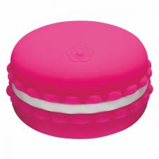 Kawaii Macaroon - akkus, vízálló csikló vibrátor (sötét pink) vibrátorok