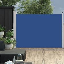 Kék behúzható oldalsó teraszi napellenző 120 x 500 cm kerti bútor