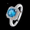 Kék köves gyűrű