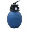 Kék medence-homokszűrő 4-állású szeleppel 300 mm