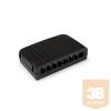 KELine KE-KB08-B Kompact doboz, 8xRJ45 csatlakozó számára, fekete, üres