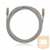KELine KEL-C6A-P-070 Kategória 6A, 10Giga patch kábel STP, 7 m, LSOH halogénmentés, Szürke