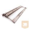 KELine KEP-C6A-S-10G-NP Patch panel , Kategória 6A, 24xRJ45/s, ezüst, csatlakozókkal, 1U