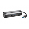 Kensington UA3000E USB 3.0 Ethernet Adapter & 3-Port Hub for Windows and Mac (K33982WW)