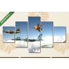Képáruház.hu Avia vadászrepülők az égen(135x70 cm, S01 Többrészes Vászonkép)