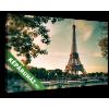 Képáruház.hu Az Eiffel- torony és hajók a Szajna-parton(35x20 cm, vászonkép)