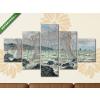 Képáruház.hu Claude Monet: Halászhálók Pourville-nál (1882)(135x70 cm, S01 Többrészes Vászonkép)