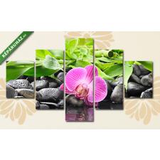 Képáruház.hu Csendélet lila orchideával(135x70 cm, S01 Többrészes Vászonkép) grafika, keretezett kép