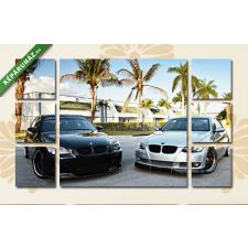 Képáruház.hu Két BMW pálmákkal(135x80 cm, W01 Többrészes Vászonkép) grafika, keretezett kép