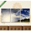 Képáruház.hu Napsütötte szántóföld(125x60 cm, L02 Többrészes Vászonkép)
