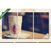 Képáruház.hu New York Cafe(125x70 cm, L01 Többrészes Vászonkép)