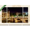 Képáruház.hu Párizs, Szent Mihály híd (Pont Saint-Michel)(135x80 cm, W01 Többrészes Vászonkép)