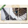 Képáruház.hu Párizsi körhinta(125x60 cm, L02 Többrészes Vászonkép)