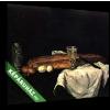 Képáruház.hu Paul Cézanne: Csendélet kenyérrel és tojással(30x20 cm, vászonkép)