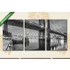 Képáruház.hu Premium Kollekció: Brooklyn Bridge in New York City(125x60 cm, L02 Többrészes Vászonkép)