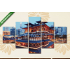 Képáruház.hu Premium Kollekció: Buddha Toothe Relic Temple in Chinatown in Singapore.(135x70 cm, S01 Többrészes Vászonkép)