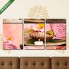 Képáruház.hu Premium Kollekció: Collage of pink spa setting.(125x60 cm, L02 Többrészes Vászonkép)
