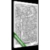 Képáruház.hu Premium Kollekció: Detailed vector poster city map Prague(20x30 cm, vászonkép)