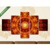 Képáruház.hu Premium Kollekció: Glowing fiery oriental ornament(135x70 cm, S01 Többrészes Vászonkép)