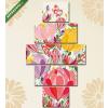 Képáruház.hu Premium Kollekció: Greeting card flowers. Floral illustration with field flowers in(135x70 cm, S01 Többrészes Vászonkép)
