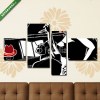 Képáruház.hu Premium Kollekció: Jazz band with double-bass trumpet piano(125x70 cm, S02 Többrészes Vászonkép)