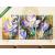 Képáruház.hu Premium Kollekció: Krókusz virágok festmény(125x60 cm, L02 Többrészes Vászonkép)