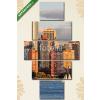 Képáruház.hu Premium Kollekció: Lower Manhattan Skyline at golden hour, NYC, USA(135x70 cm, S01 Többrészes Vászonkép)
