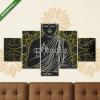Képáruház.hu Premium Kollekció: Vintage poster with sitting Buddha on the grunge background over(135x70 cm, S01 Többrészes Vászonkép)