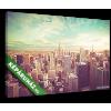 Képáruház.hu Premium Kollekció: Vintage tone view of New York City skyline view across Manhattan(30x20 cm, vászonkép)