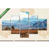 Képáruház.hu Premium Kollekció: Volcano Aconcagua and Vineyard, Argentine province of Mendoza(135x70 cm, S01 Többrészes Vászonkép)